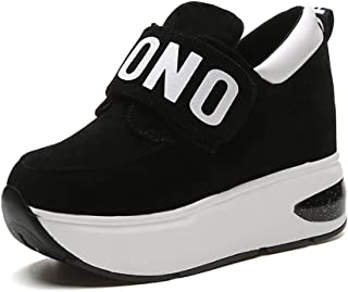 Women's Elegant Formal Casual Sports Wedges Platform Sneakers Hidden Heel Shake Shoes