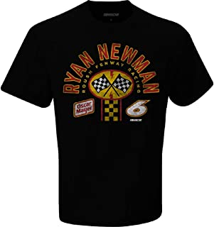 Checkered Flag Sports Men's Ryan Newman #6 Oscar Mayer 2020 Nascar Pitstop T-Shirt, Black
