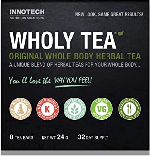 INNOTECH Nutrition: Wholy Tea Original - 8 Count (1 Month Supply)