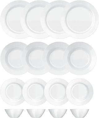 Aparelho de Jantar, Menu, 16 Peças, Branco, Duralex