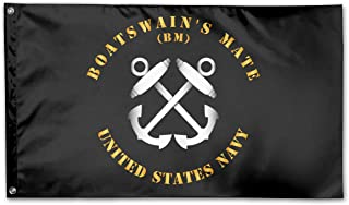 Navy Rate Boatswain's Mate Family Party Flags 3 X 5 in Indoor&Outdoor Decorative Home Fall Flags Holiday Decor