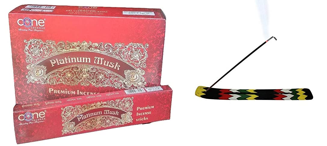 人道的蒸侮辱Platinum Musk Incense Sticks (Pack of 12=144 Sticks)