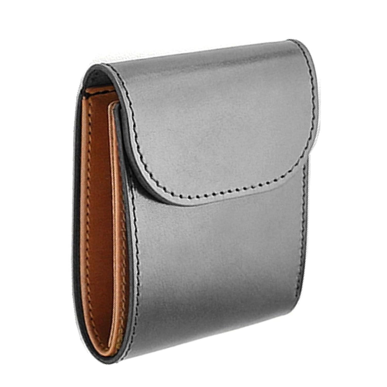 「RELIABLE リライアブル」 純国産 紳士用 高級二つ折り 短財布 (クリークレザーFS-03) (ブラック)