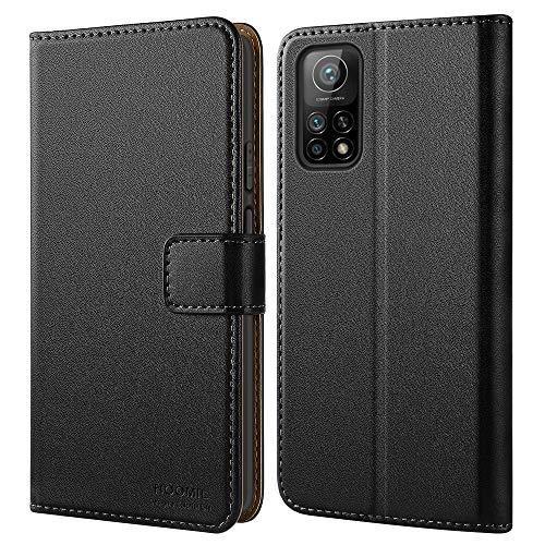 HOOMIL Handyhülle für Xiaomi Mi 10T 5G Hülle, Xiaomi Mi 10T Pro 5G Hülle, Premium Leder Flip Hülle Schutzhülle für Xiaomi Mi 10T 5G/Mi 10T Pro 5G Tasche (Schwarz)