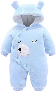 Borlai Baby-Strampler für Neugeborene, Flanell, Winter, Cartoon-Jumpsuit, Schneeanzug, Oberbekleidung 0-12 Monate