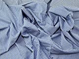 Minerva Crafts Chambray Denim-Stoff, Gingham-Muster, Blau