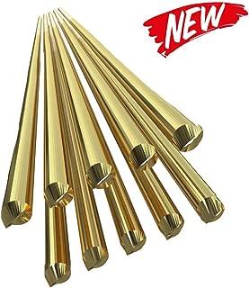 KKmoon 10PCS Brass Welding Brazing Rods Electrode 1.6mm333mm Soldering Rod No Need Solder Powder