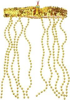 金色 エジプト クレオパトラビーズ ヘッドバンド 女性 女王 仮装 蛇 宝石