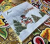 Papier Servietten Happy Holidays Santa Snowman With Hat Lunch Fest Party ca 33x33cm Herbst Winter Weihnachten - 3