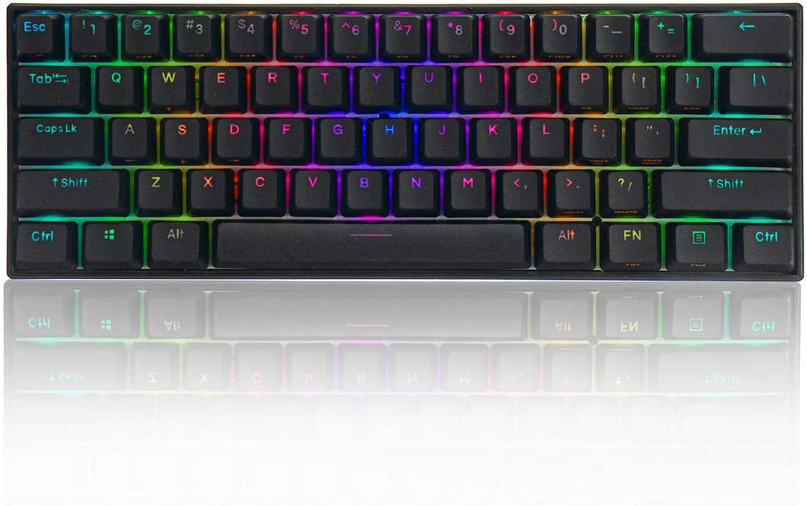 LICHONGUI 60% Bluetooth 5.0 Tipo-C Outemu Switch PBT Double ...