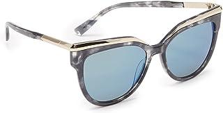 MCM637S 404 5616 نظارة شمسية نسائية بإطار عين القطة عدسات زرقاء