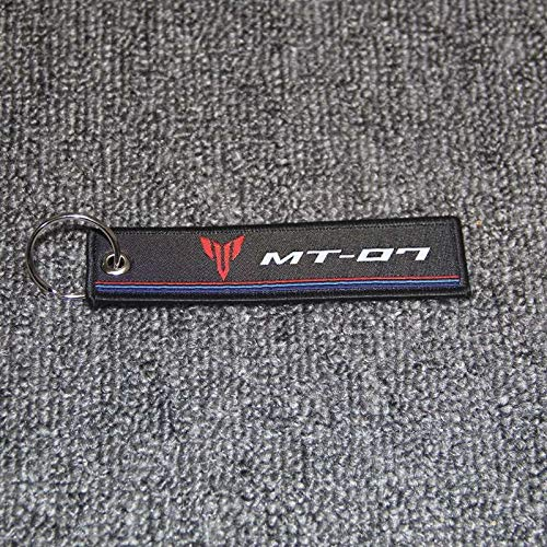 CHENWEI- Motorrad-Schlüsselanhänger Gewebte Schlüsselring-Umbau-Aufkleber Kette for Yamaha MT-09 MT-07 MT-03 MT-01 MT-25 MT-125 MT-10 (Color : MT 07)
