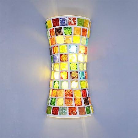 Artpad Moderne Style Bohême Mur Vitrail Luminaire LED (33cm) Haut et Bas Double Lumière pour Escalier Chambre Salon Surface Appliques Montées 220V Marocain Arabian Style Oriental l Fait Main