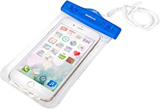 オウルテック スマホ/iPhone対応 ネックストラップ付防水ケース(クリアブルー) OWL-WPCSP12-CBL