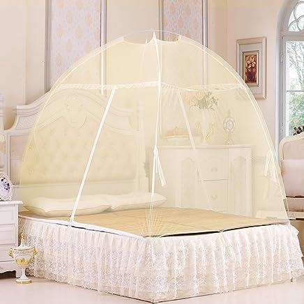 牧者家居A-8815魔术蒙古包蚊帐1.5米床颜色随机 (颜色随机, 1.5米床)
