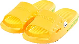 Elonglin Boys Girls Bathroom Slippers Sandals Children Anti-Slip Beach Summer Slipper Shower Pool Shoes Non Slip Beach Indoor House Shoes (Yellow 170/21cm)