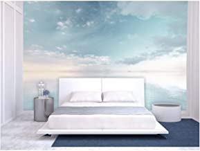 wall26 - Large Wall Mural - Oil Painting Style Landscape with Sky Reflected on The Calm Water Surface | Self-Adhesive Vinyl Wallpaper/Removable Modern Wall Decor - 100x144 inches