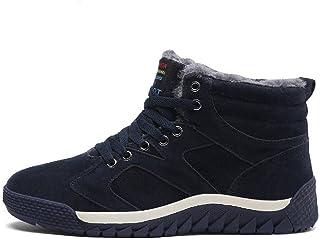 Uomo Stivali da Neve Invernali Scarpe Allineato Pelliccia Caloroso Caviglia Piatto Stivaletti Sportive Boots 38-46 EU