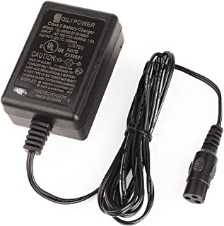 12V 1A Scooter Battery Charger for Razor E90, PowerRider 360, Jr. Electric Wagon, Boreem Tankman, Mambo Liberty 312, Xcooter Tornado XC505GT2, Minimoto Submersible Cruiser, Replacement W13111401014