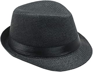 Banded Fedora HAT for Kids Trilby Gangster Panama Classic Vintage Short Brim Style
