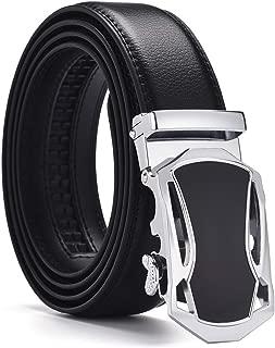 Men's Automatic Belt Black Buckle leather Belts Fashionable Business Waist Strap Belt for Men