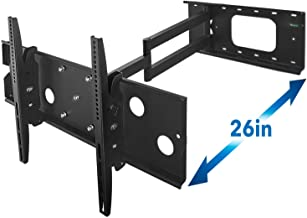 Mount-It! Long Arm TV Wall Mount With 26 Inch Extension, Swing Out Full Motion Design for Corner Installation, Fits 40 50, 55, 60, 65, 70 Inch Flat Screen TVs, 220 Pound Capacity (Renewed)