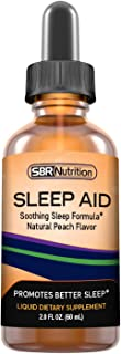Natural Sleep Aid Liquid Drops | Melatonin, Suntheanine, Chamomile, GABA, Wellness Formula | Soothing Extra Strength Subli...