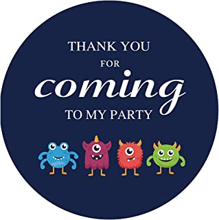 MAGJUCHE Monster Themed Thank You Stickers, Little Monster Baby Shower or Birthday Party Favor Sticker Labels, 2 Inch, 40-Pack