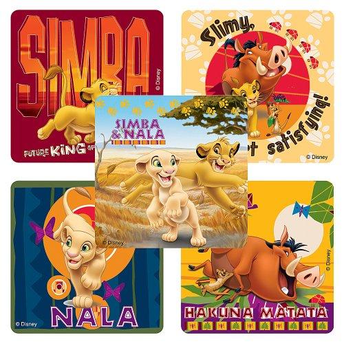 Disney Lion King: Hakuna Matata Stickers - Party Favors - 100 Per Pack
