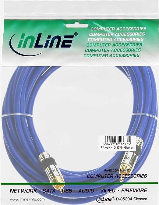 Inline 89405p Cinch Kabel Audio Premium Vergoldete Computer Zubehör