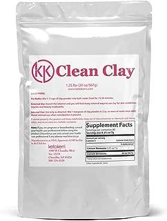 Clean Clay Powder 1.25 LB Food Grade for Internal & External use KetoKerri Calcium Bentonite Aztec Healing Face Mask Detox Skin