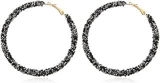 Best black glitter hoop earrings Reviews