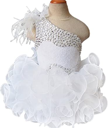 Zhoumei Infant Girls Custom Made DIY Mini Cupcake Gowns Kids Pageant Dress