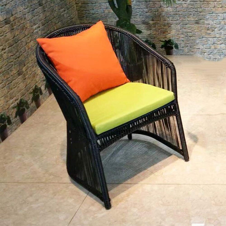 DASENLIN Kreative Runde Teetisch Wohnzimmer Innenhof Rattan Tisch und Stuhl Kombination Satz, Einzel Stuhl
