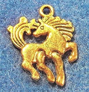 50Pcs. Wholesale Tibetan Antique Gold Horse Pendants Charms Earring Drops Q0251 Crafting Key Chain Bracelet Necklace Jewelry Accessories Pendants