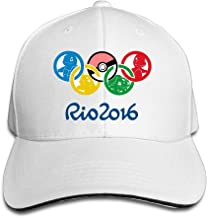 MYDT1 Unisex Pokemon Go 2016 Olympics Games Outdoor Sandwich Peaked Caps Hats