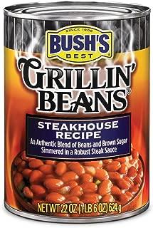 BUSH'S BEST Steakhouse Recipe Grillin' Beans, 22 Ounce (Pack of 12)