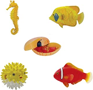 Assorted 4pcs/set of Ukenn 2nd Generation 3d Coral Fish Puzzles Diy Butterfly Fish/ball Fish/tomato Fish/sea Horse Models Kids Educational Toy 2566