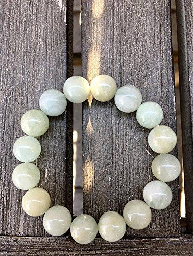 LOVEKUSH 12mm Green-Yellow Beryl Stretch Bracelet Code- WAR6305