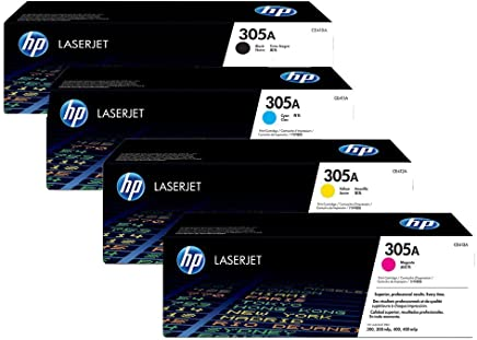 $487 » Genuine H-P Original 305A Black, Cyan, Yellow, Magenta Toner Cartridge Set CE410A / CE411A / CE412A / CE413A for HP Laserjet Pro M451/M475