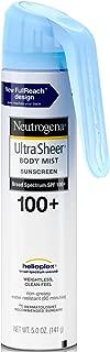 Neutrogena Ultra Sheer Spf#100 +Body Mist Full Reach Spray 5 Ounce (148ml) (6 Pack)