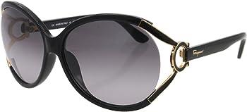 Ferragamo SF600S Grey Gradient Round Women's Sunglasses