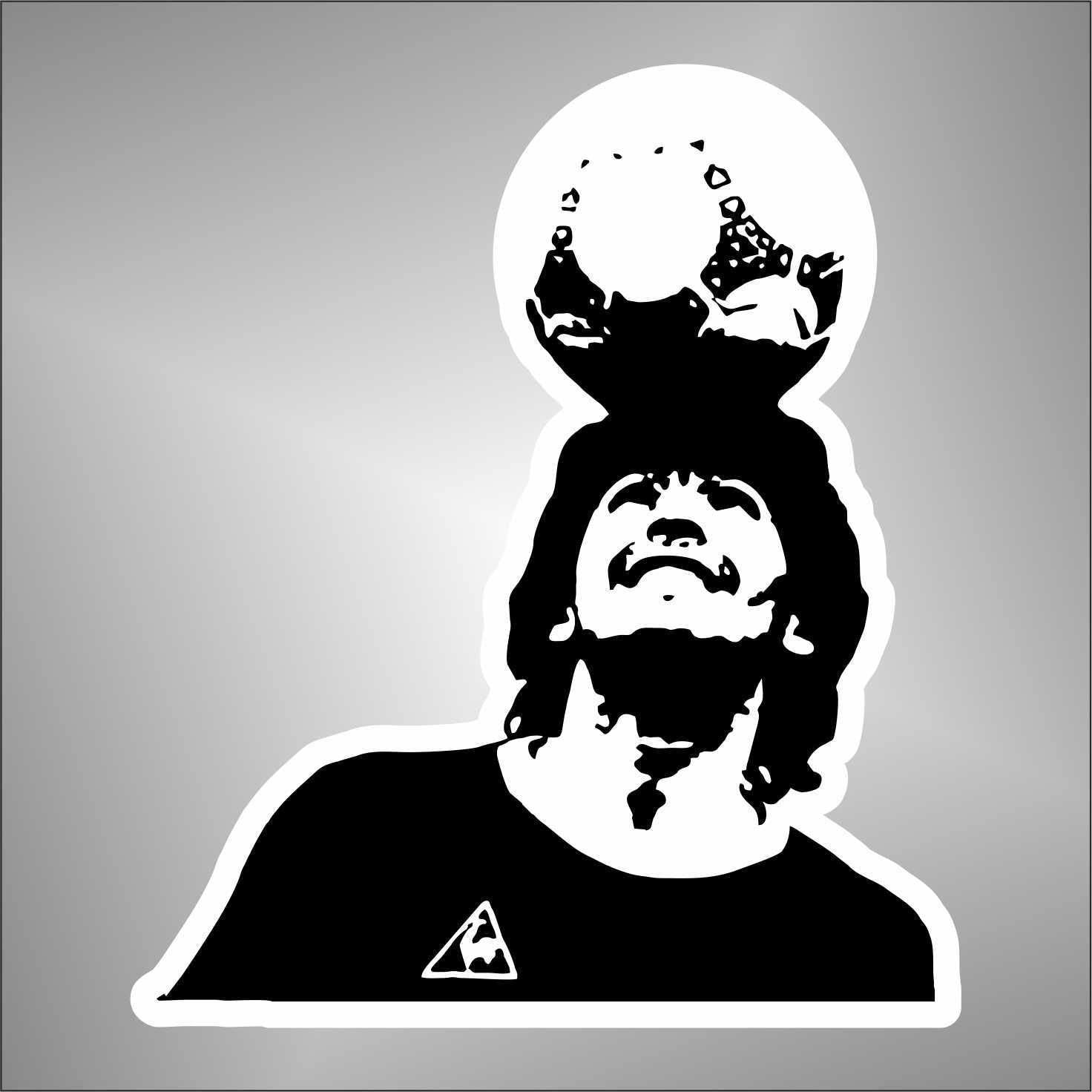 Sticker Diego Armando Maradona Napoli Argentina football Graphic-lab Aufkleber