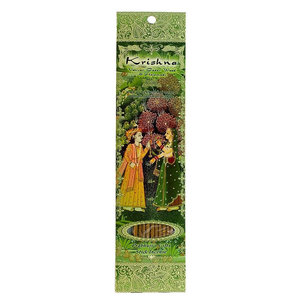 ゴルフリンスピル(Krishna, 1) - Ramakrishna Incense Sticks, Krishna, Vetiver, Cedar wood & Halamadi, Single Pack