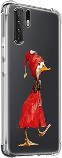 Suhctup Compatible con Huawei P40 Lite Funda para Silicona con Dibujos Animados Diseño Cárcasa Ultra-Fina Transparente Suave TPU Choque Cojín de Esquina Parachoque Caso-Pato