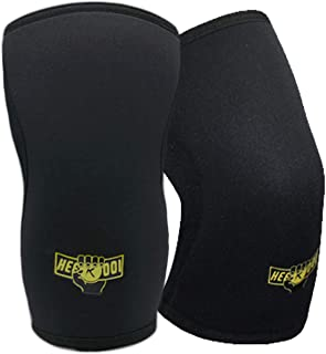 Heekooi Knee Sleeve Compression Support Brace for Weight Lifting