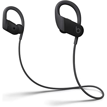 Powerbeats High-Performance Wireless Earphones - Apple H1 Headphone Chip, Class 1 Bluetooth, 15 Hours Of Listening Time, Sweat Resistant Earbuds - Black (Latest Model)