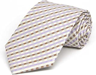 TieMart Boys' Cream George Plaid Necktie