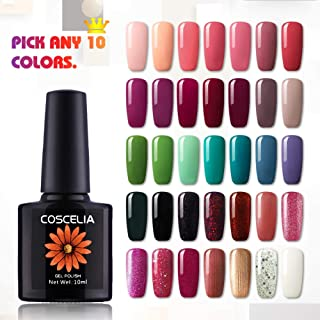 COSCELIA Pick Any 6 Color Nail Gel Ploish Soak Off Color Gel Nail Polish Starter Set