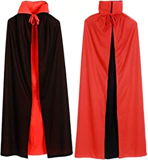 Adult Children Witch Red Black Halloween Cloaks Hood and Capes Halloween Scary Costumes